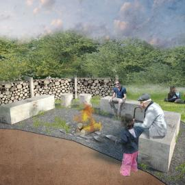 návrh přírodní zahrady - ohniště, teepe, přírodní materiály